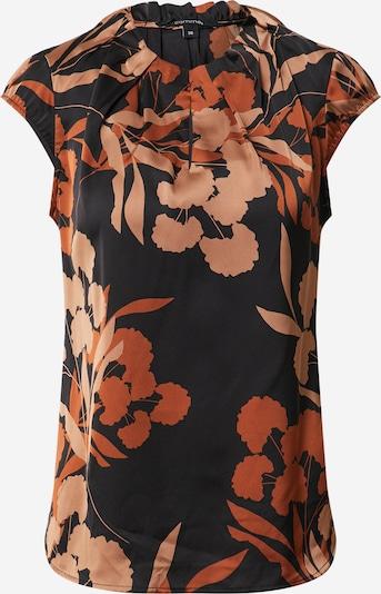 COMMA Bluse 'ABBY' in braun / schwarz, Produktansicht