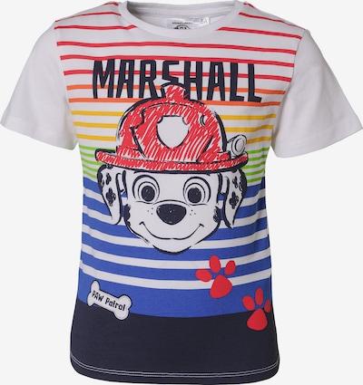 PAW Patrol T-Shirt in nachtblau / himmelblau / rot / naturweiß: Frontalansicht