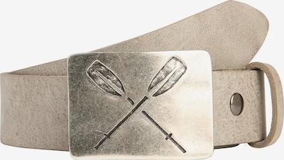 RETTUNGSRING by showroom 019° Ledergürtel 'Gump' in grau / taupe / silber, Produktansicht