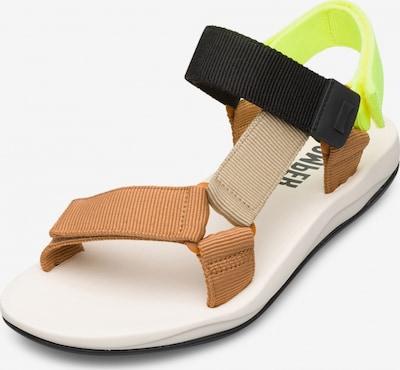 CAMPER Sandale 'Match' in beige / hellbraun / neongelb / schwarz, Produktansicht