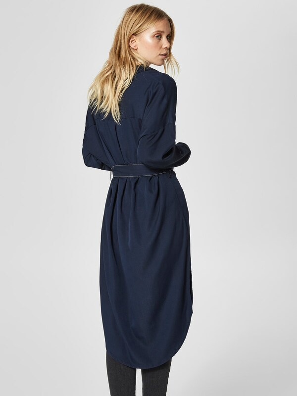 SELECTED FEMME Hemd-Kleid mit Bindegürtel