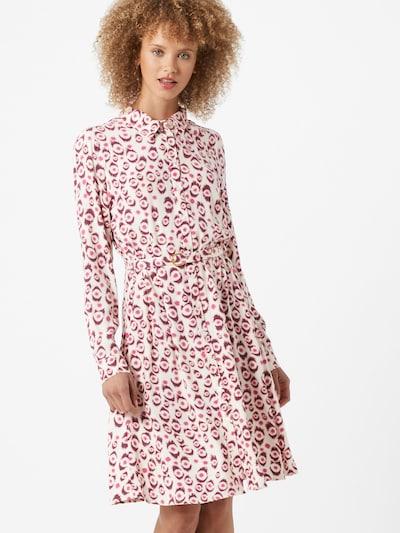 Fabienne Chapot Košeľové šaty 'Hayley' - krémová / tmavoružová / bordová: Pohľad spredu