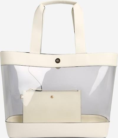 Lauren Ralph Lauren Nakupovalna torba 'CLEAR-HARPER 35-TTE-MED' | bela barva, Prikaz izdelka