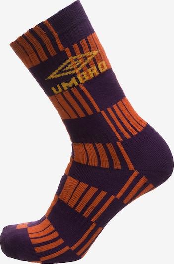 UMBRO Socken 'Flatliner' in dunkellila / orange, Produktansicht
