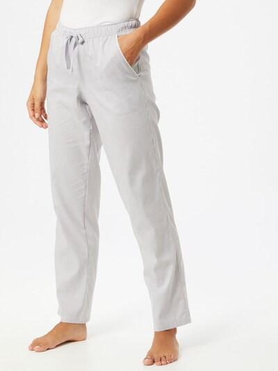 SCHIESSER Spodnji del pižame | siva / bela barva: Frontalni pogled