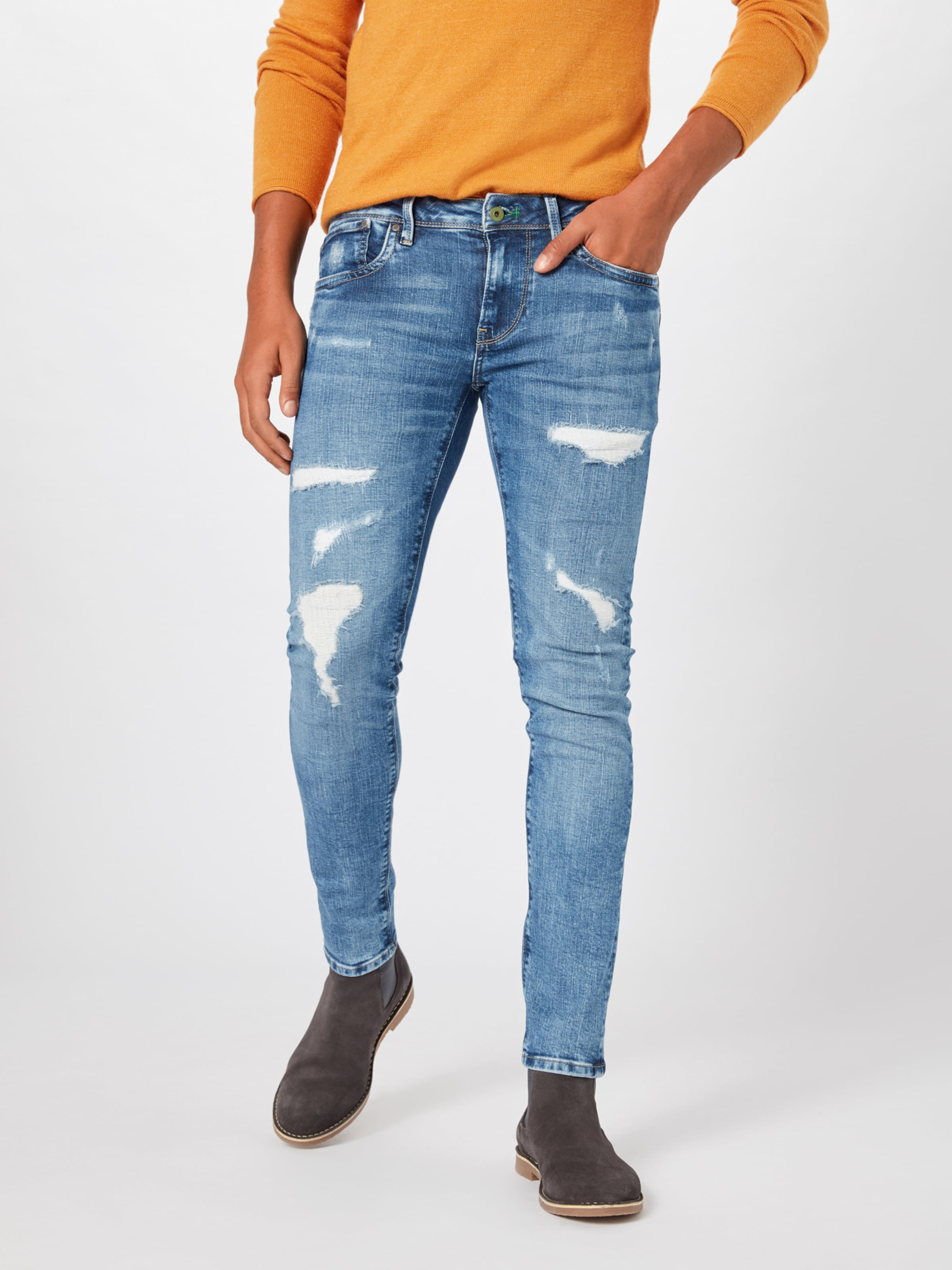 Pepe Denim Blue Jeans In 'hatch' b76gfvYy