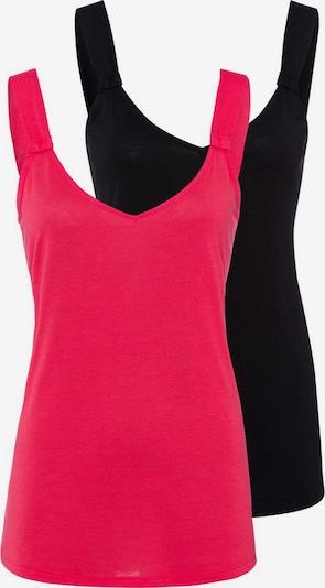 LASCANA Tops in rot / schwarz, Produktansicht