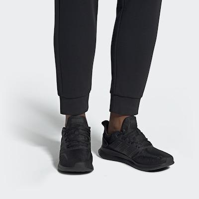 ADIDAS PERFORMANCE Chaussure de course 'Runfalcon' en noir: Vue de face