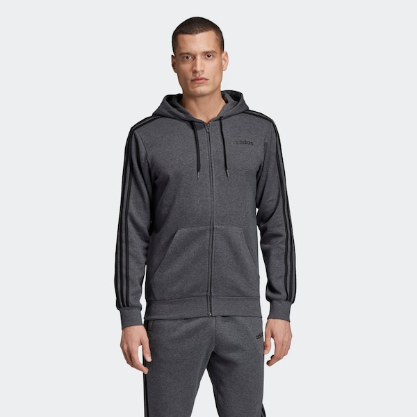 ADIDAS PERFORMANCE Jacke 'Essentials 3 Streifen' in Grau