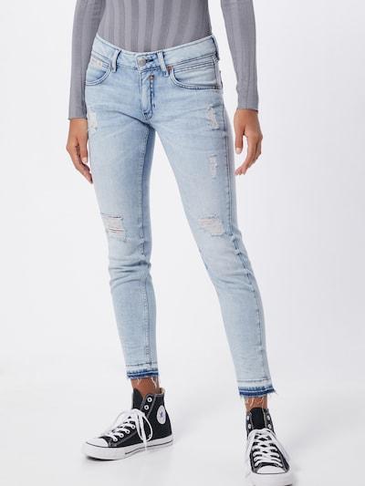 Herrlicher Jeans 'Touch Cropped' in blue denim: Frontalansicht