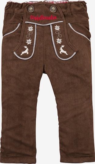 BONDI Hose in braun / rot / weiß, Produktansicht