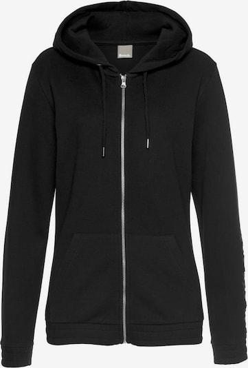 H.I.S Sweatjacke in schwarz, Produktansicht