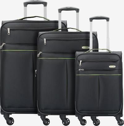 D&N Kofferset 3tlg. in schwarz, Produktansicht