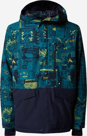 QUIKSILVER Zunanja jakna 'MISSION BLOC' | zelena / črna barva, Prikaz izdelka