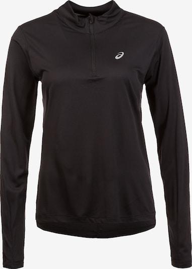 ASICS Functioneel shirt 'Silver' in de kleur Zwart / Wit, Productweergave