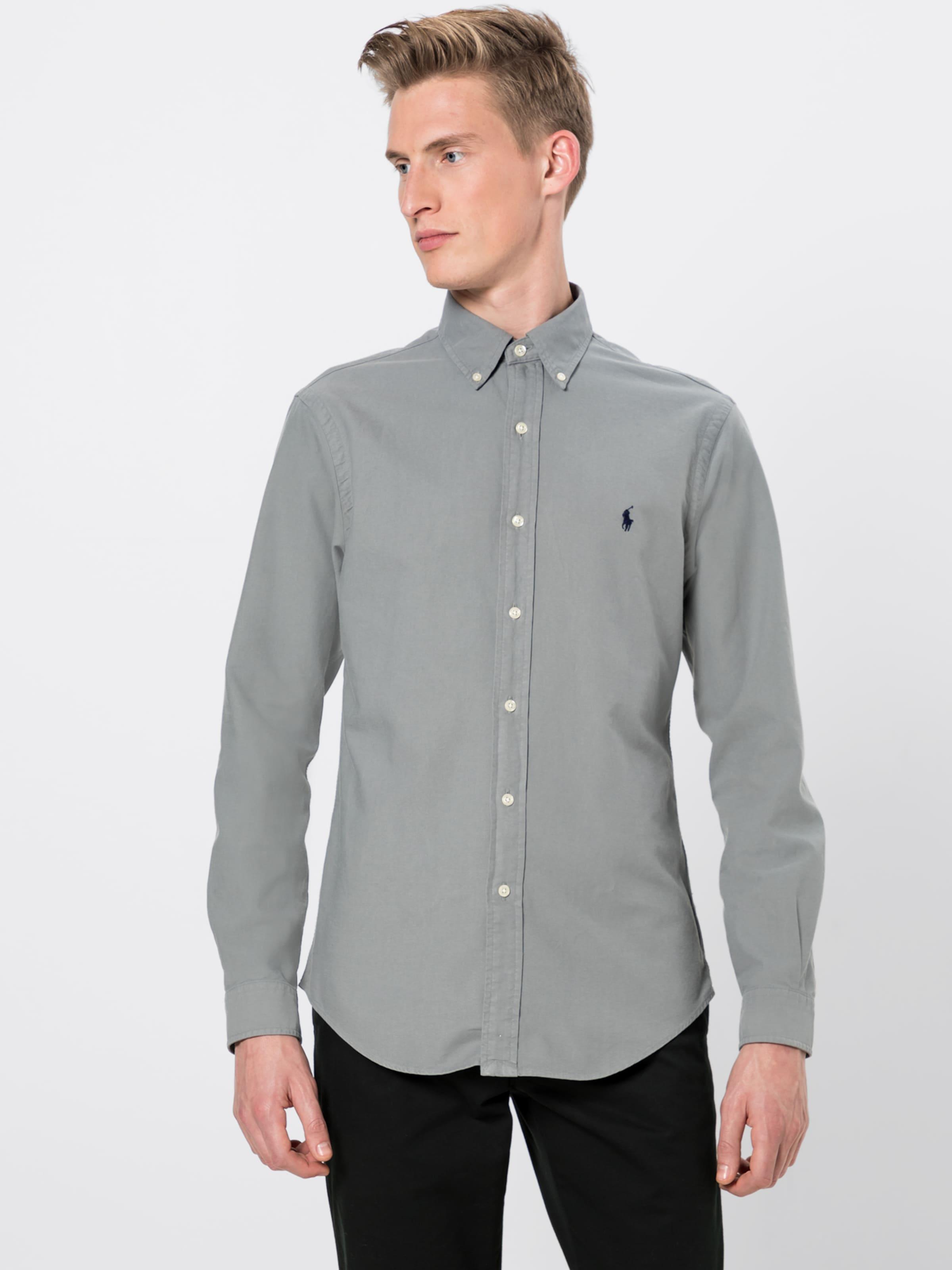 Polo Sleeve Shirt' In Dunkelgrau long Ralph sport Lauren Bd 'sl Sp Ppc dWCBxreo