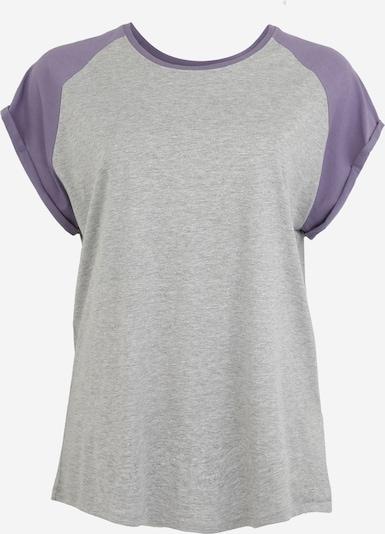 szürke / lila Urban Classics Curvy Póló 'Ladies Contrast Raglan', Termék nézet