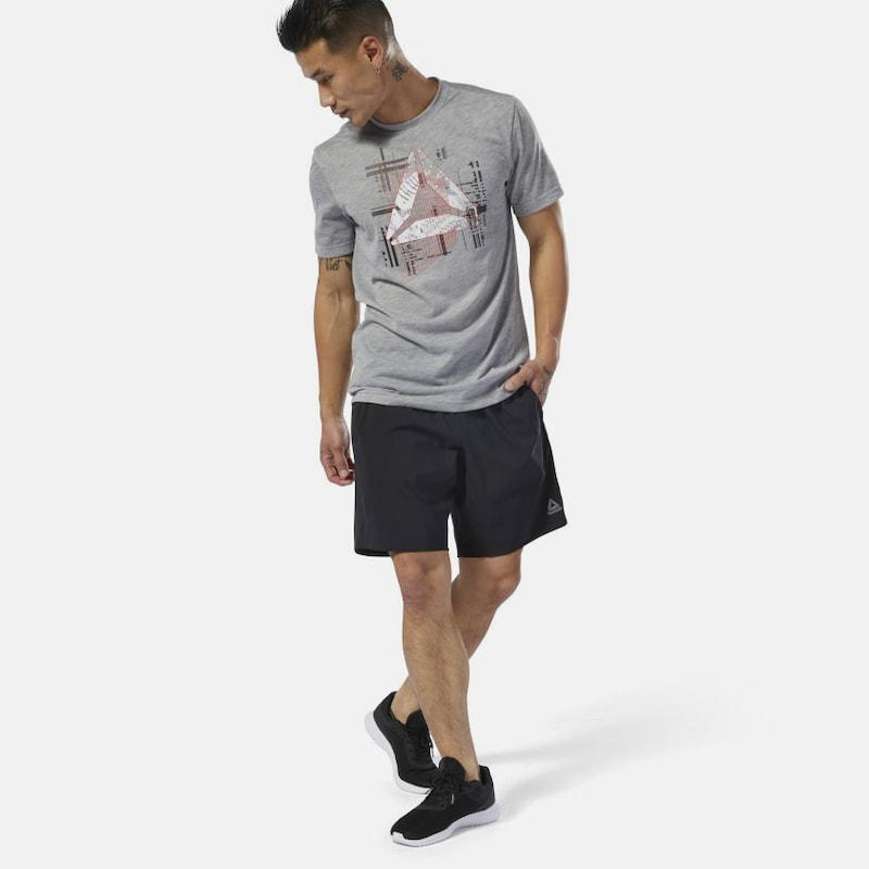 REEBOK Shorts 'WOR Woven' in schwarz weiß   ABOUT YOU