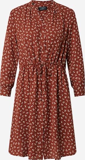 SELECTED FEMME Kleid 'DAMINA' in rostbraun / weiß, Produktansicht