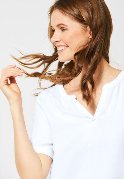 CECIL Lässige Bluse in Unifarbe in weiß, Modelansicht
