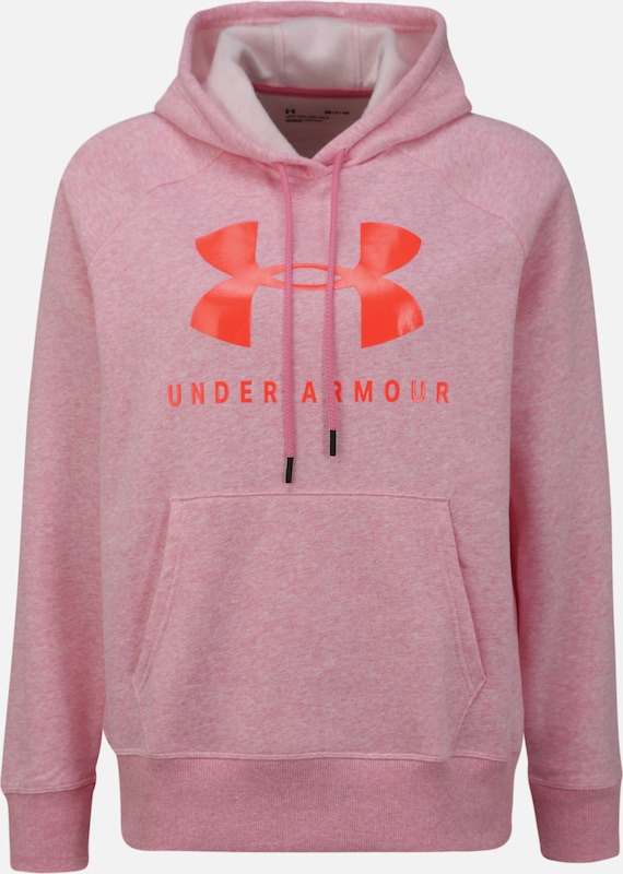 UNDER ARMOUR Sport-Sweatshirt 'RIVAL FLEECE SPORTSTYLE GRAPHIC' in pink, Produktansicht