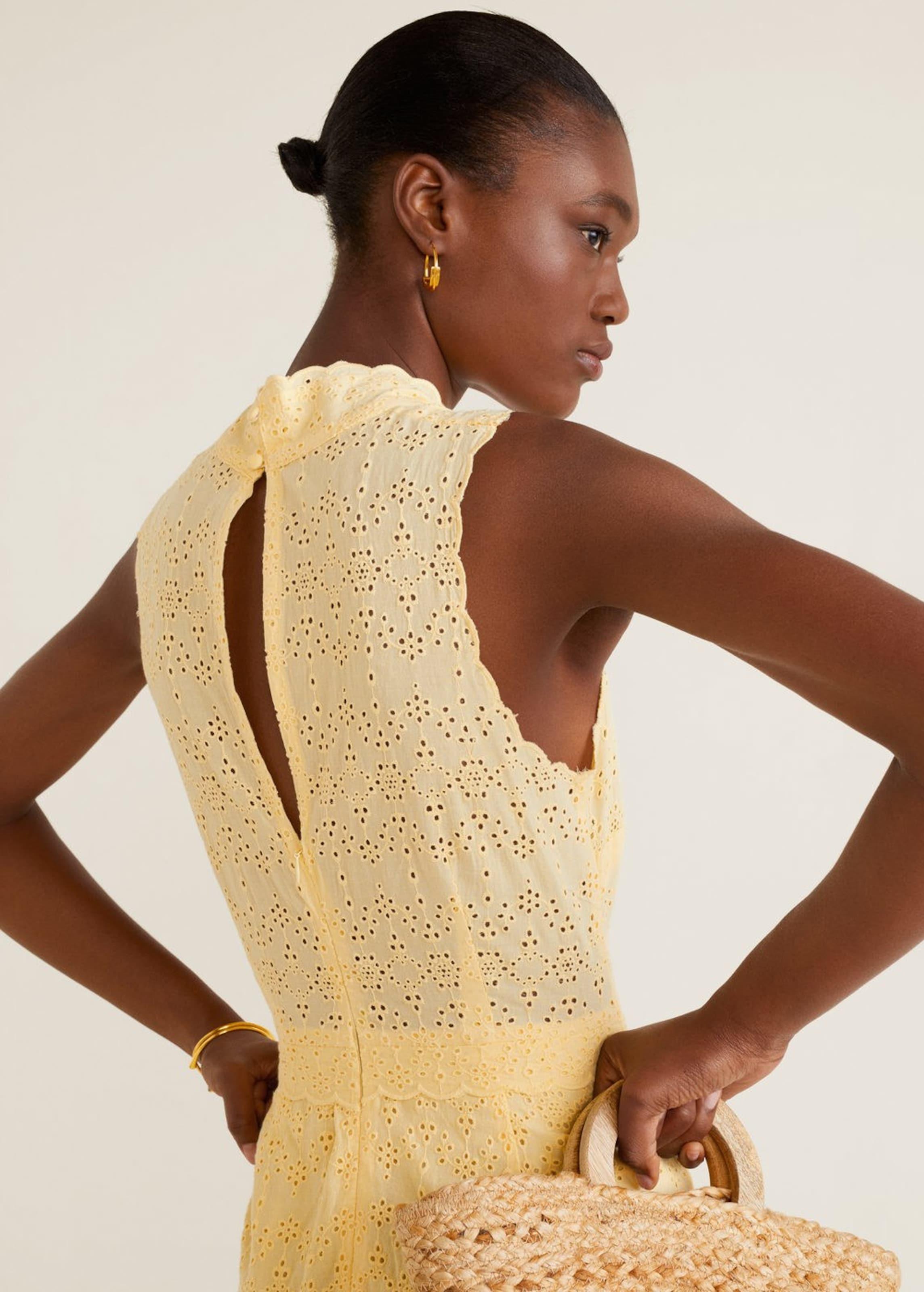 In Mango Kleid 'formen' Gelb Wuoklipxzt mNv08wn