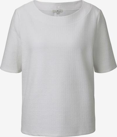 TOM TAILOR Strick & Sweatshirts Strukturiertes Kurzarm-Sweatshirt in weiß, Produktansicht