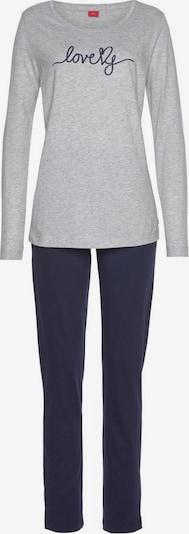 s.Oliver Pijama en navy / gris, Vista del producto