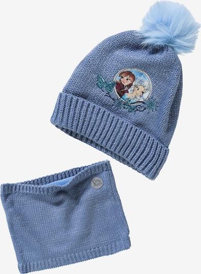 DISNEY Disney Die Eiskönigin Set, Mütze + Schlauchschal in himmelblau, Produktansicht