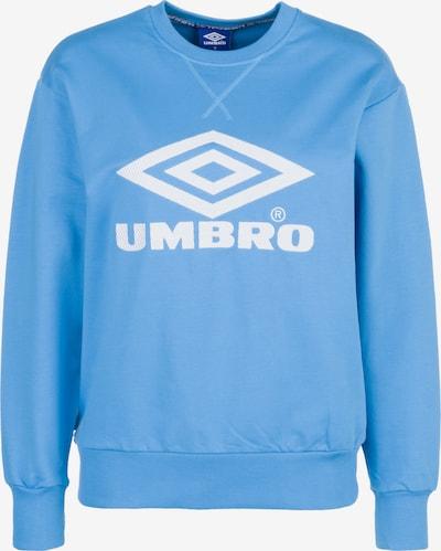 UMBRO Sweatshirt in hellblau / weiß, Produktansicht