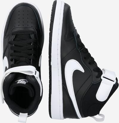 Nike Sportswear Trampki 'Court Borough Mid 2' w kolorze czarny / białym: Widok boczny