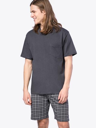 SCHIESSER Schlafanzug 'Anzug Kurz' in anthrazit, Modelansicht