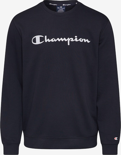 Champion Authentic Athletic Apparel Majica 'CREWNECK SWEATSHIRT' | črna / bela barva, Prikaz izdelka