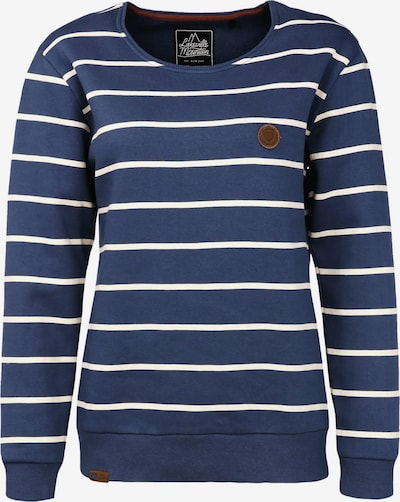 Lakeville Mountain Sweatshirt 'Cuanda Striped' in de kleur Blauw / Wit, Productweergave