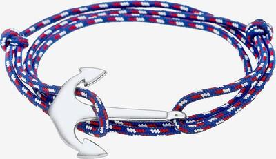 PAULO FANELLO Armband in blau / rot / silber / weiß, Produktansicht