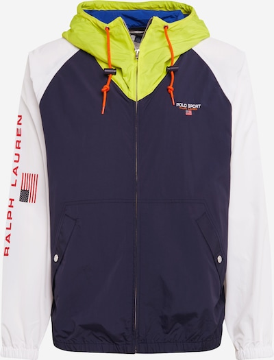 POLO RALPH LAUREN Functionele jas 'OG WNDBRKR-UNLINEDJACKET' in de kleur Navy / Geel / Wit, Productweergave