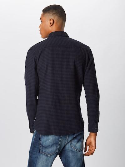 JACK & JONES Overhemd in de kleur Donkerblauw: Achteraanzicht