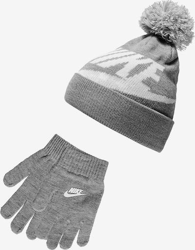 Megzta kepurė iš Nike Sportswear , spalva - margai pilka / balta, Prekių apžvalga