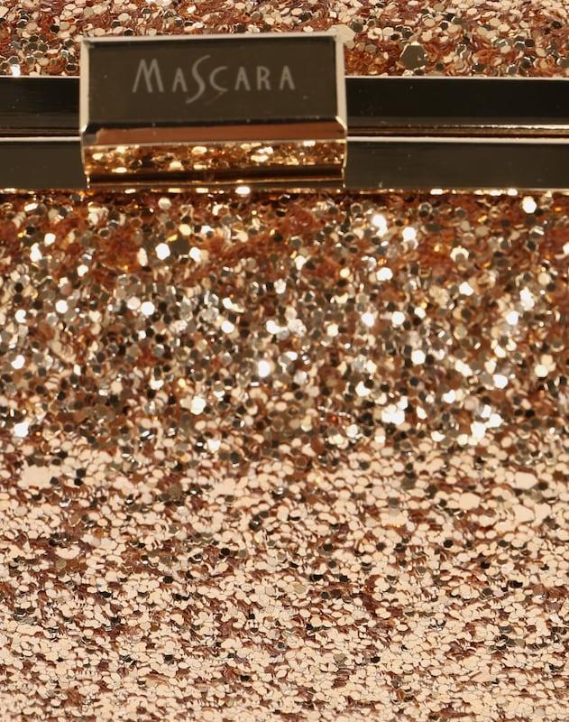 mascara Clutch mit Glitter