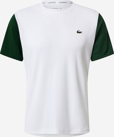 Lacoste Sport Sport-Shirt 'MAILLE INDEMAILLABLE' in grün / weiß, Produktansicht