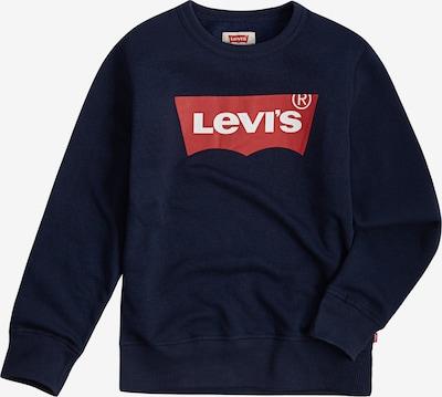 LEVI'S Sweatshirt 'Batwing Crewneck' in blau / rot / weiß: Frontalansicht
