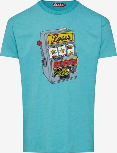 Derbe Shirt 'Lucky' in türkis / mischfarben, Produktansicht