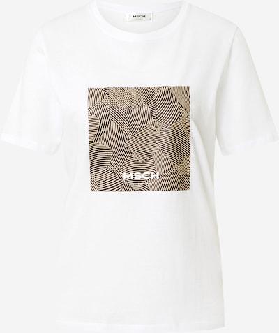 MOSS COPENHAGEN T-Shirt 'Alva' in hellbeige / schwarz / weiß, Produktansicht