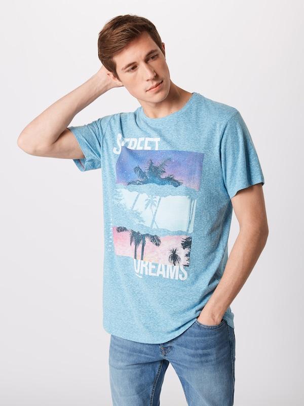 Neck' shirt 'jorstanes En BleuMélange Couleurs T Jones Crew Tee Ss Jackamp; De nX8P0wkOZN