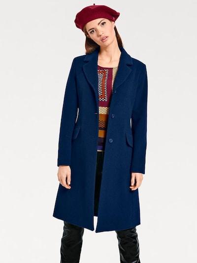 heine Kurz-Mantel in dunkelblau, Modelansicht