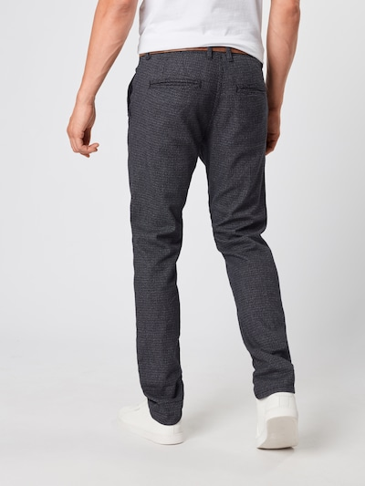 Pantaloni eleganți TOM TAILOR DENIM pe negru: Privire spate