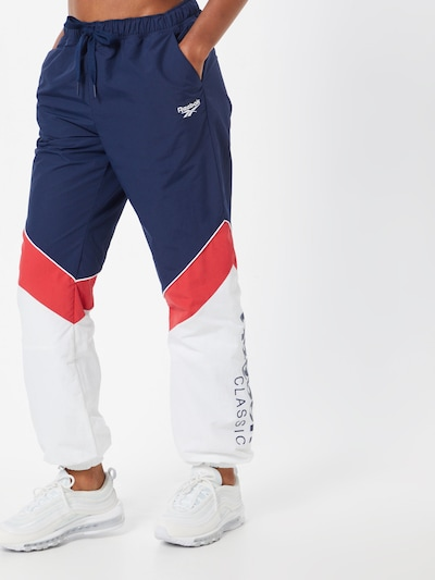 Reebok Classic Hose 'CL TRACKPANTS' in navy / rot / weiß, Modelansicht