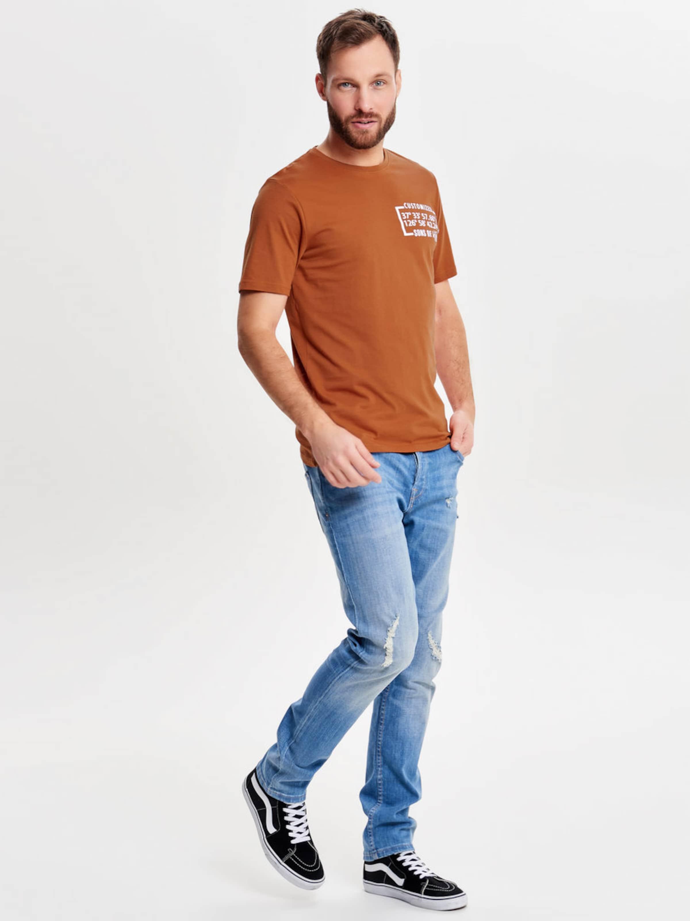 Only & Sons Print T-Shirt Erhalten Authentisch Spielraum Echt Billig Authentisch Auslass Outlet Kaufen fFgM0