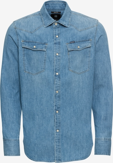 G-Star RAW Hemd '3301 slim' in blue denim, Produktansicht