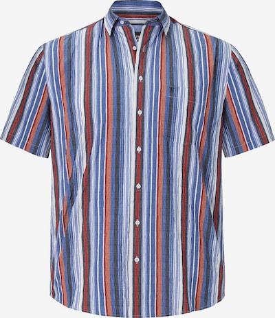 Jan Vanderstorm Kurzarmhemd 'Germo' in blau / kobaltblau / rot / pastellrot / weiß, Produktansicht